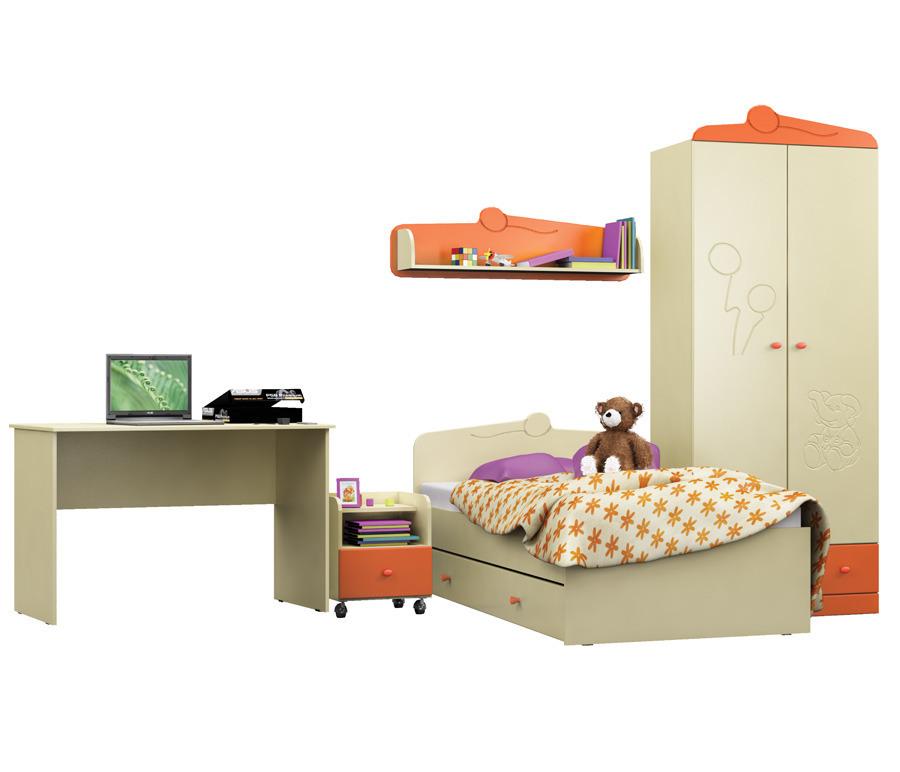 Денди Оранж (шкаф 2х дв. + кровать + стол + тумба + полка)Детские комнаты<br>В нашем магазине  Столплит  вы можете присмотреть и другие предметы для обстановки комнаты сына или дочери из серии «Денди Оранж»: комоды, тумбы, системы полок и стеллажей. Мебель отвечает всем необходимым санитарным нормам, экологически безопасна, долговечна и непритязательна в эксплуатации.&#13;]]&gt;<br><br>Длина мм: 0<br>Высота мм: 0<br>Глубина мм: 0
