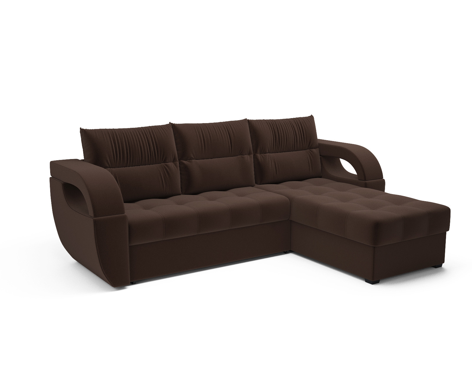 Угловой диван Мартинес (кордрой коричневый) фото