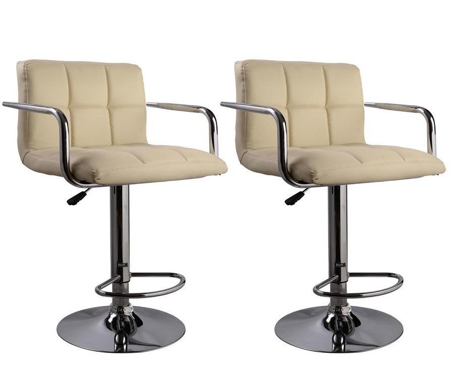 Барный стул (2шт.) HW50133Барные стулья<br><br><br>Длина мм: 420<br>Высота мм: 1180<br>Глубина мм: 430<br>Цвет: Бежевый