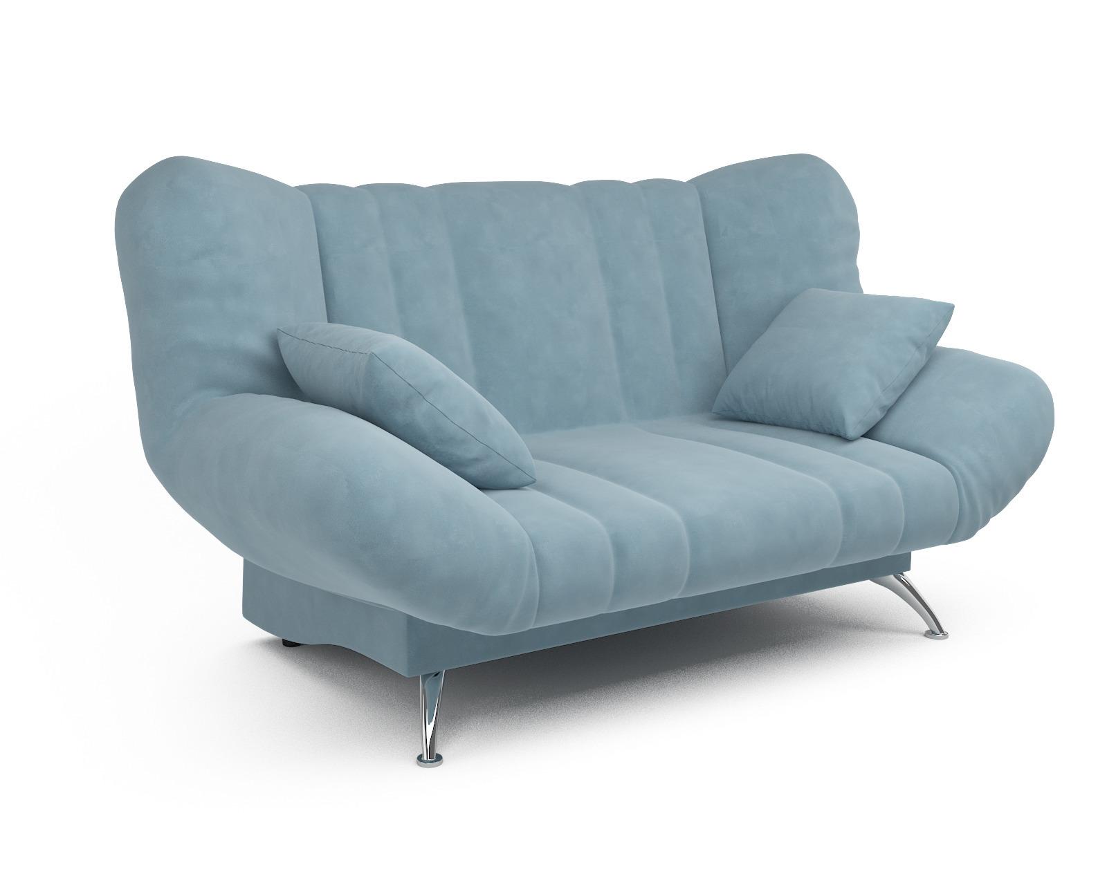 Прямой диван Голд (голубой - Luna 089)