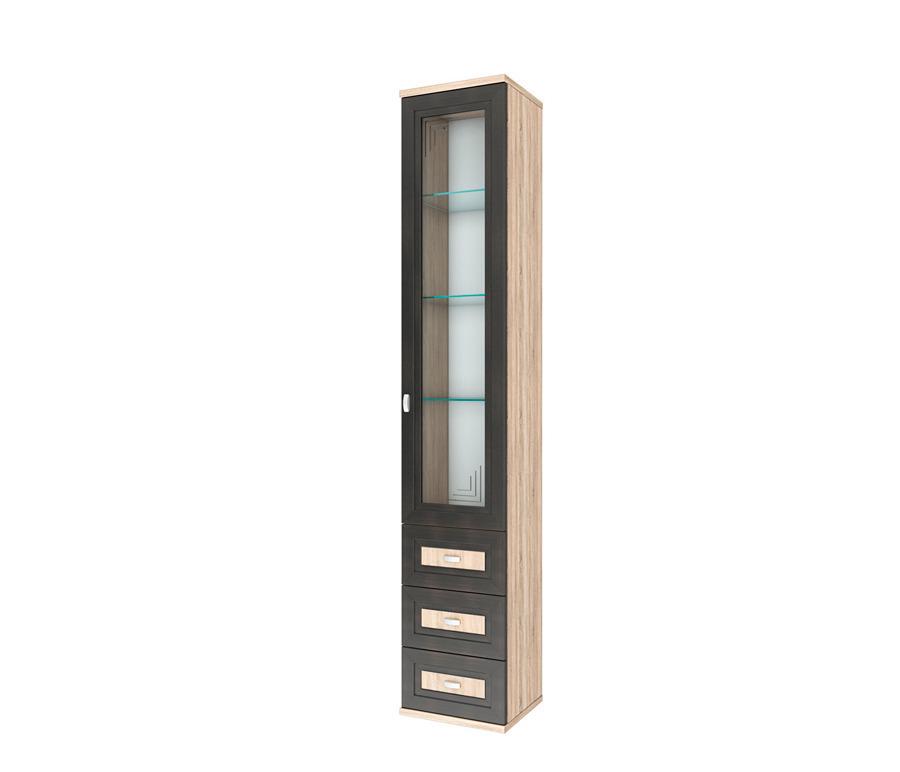 Аурелия СТЛ.156.03 Шкаф 1 дверный со стеклом и ящикамиШкафы<br><br><br>Длина мм: 400<br>Высота мм: 2205<br>Глубина мм: 360