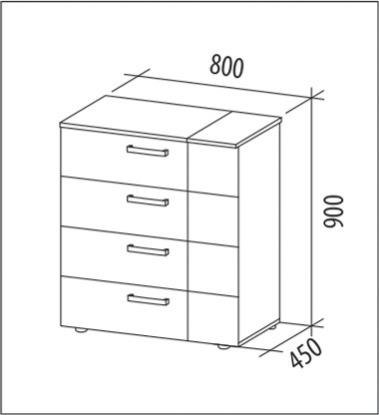 Комод Мокко-8 113150_qp от Столплит