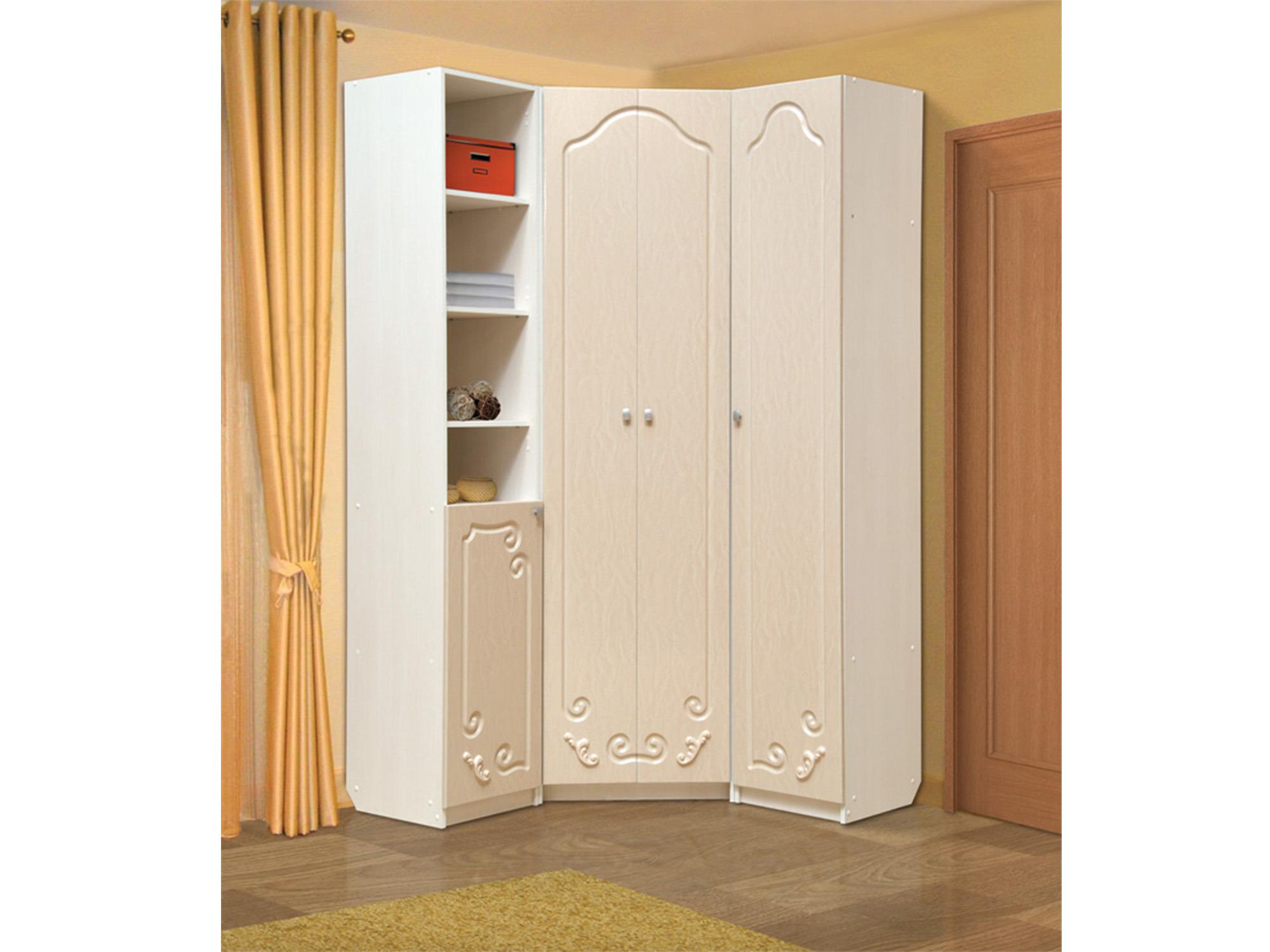 Шкаф угловой ДжульеттаУгловые шкафы<br><br><br>Длина мм: 1290<br>Высота мм: 2200<br>Глубина мм: 1290