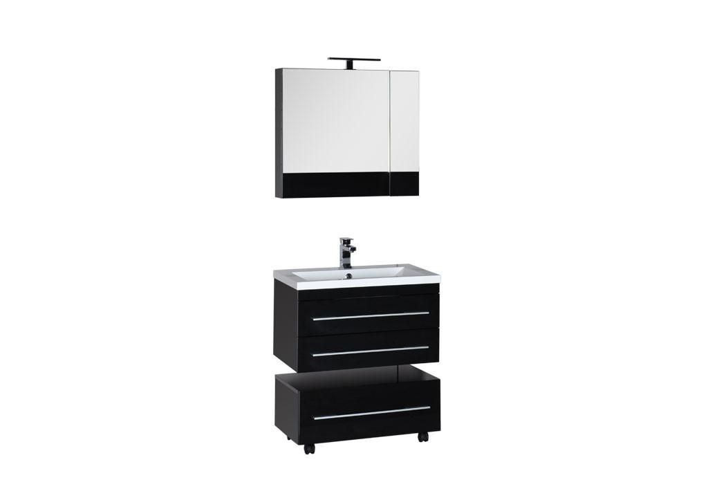 Комплект мебели Aquanet Нота 75 камериноКомплекты мебели для ванной<br><br><br>Длина мм: 0<br>Высота мм: 0<br>Глубина мм: 0<br>Цвет: Черный