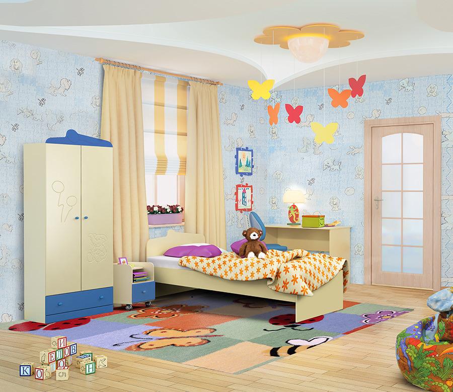 Денди комплект СинийДетские комнаты<br><br><br>Длина мм: 0<br>Высота мм: 0<br>Глубина мм: 0