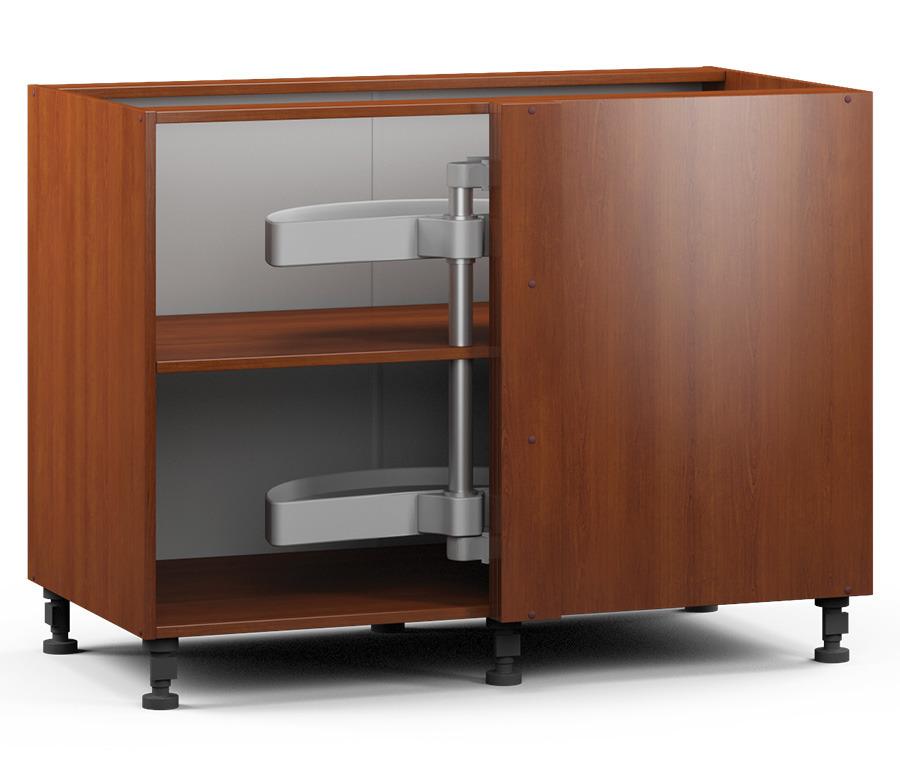 Регина РСПК-100 Стол угловой с каруселью (правый/левый)Мебель для кухни<br><br><br>Длина мм: 1087<br>Высота мм: 820<br>Глубина мм: 563