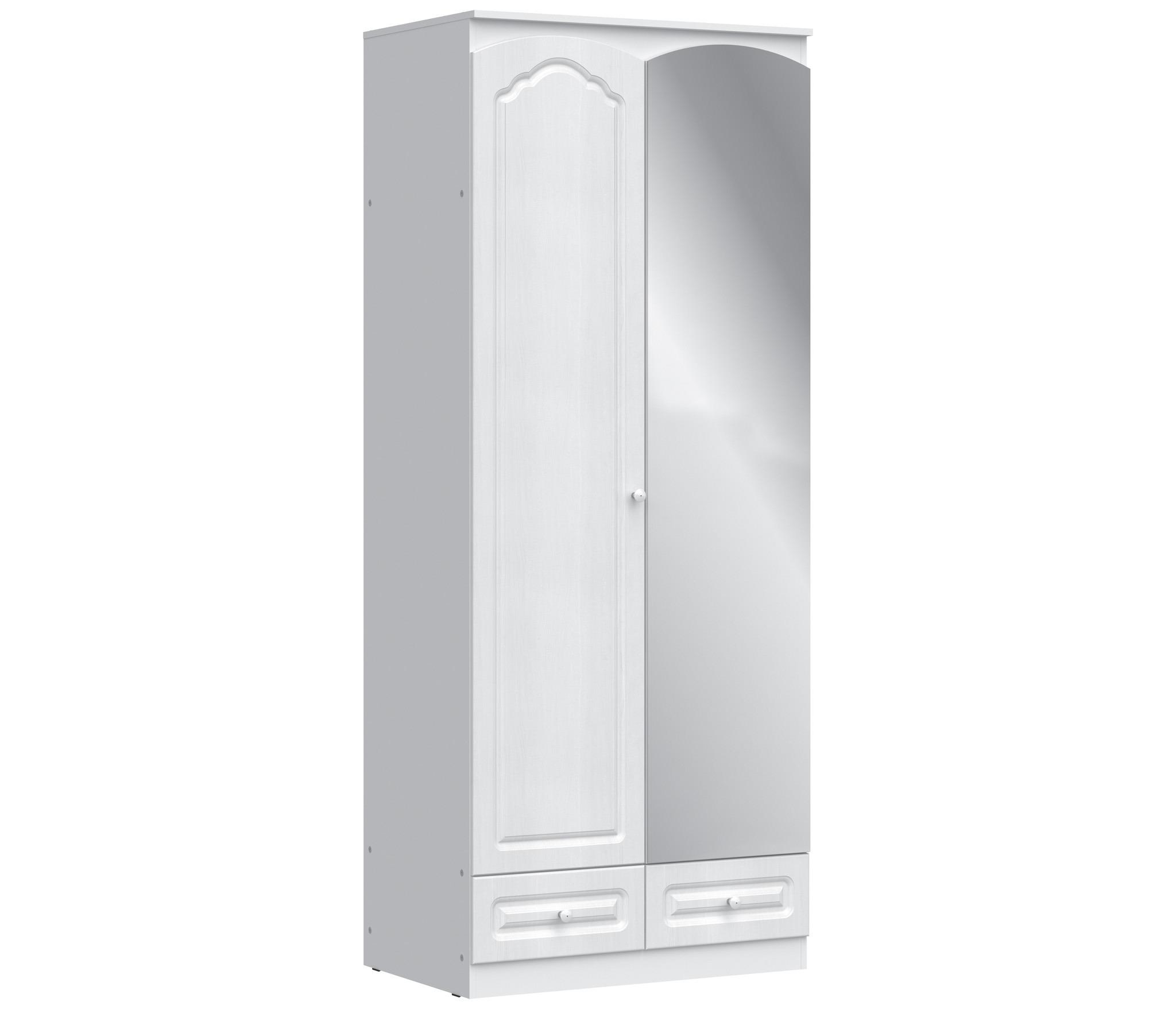 Амалия СБ-990 Шкаф 2-х дверный с зеркалом ПравыйШкафы<br>Стильный двухдверный платяной шкаф.<br><br>Длина мм: 900<br>Высота мм: 2229<br>Глубина мм: 584