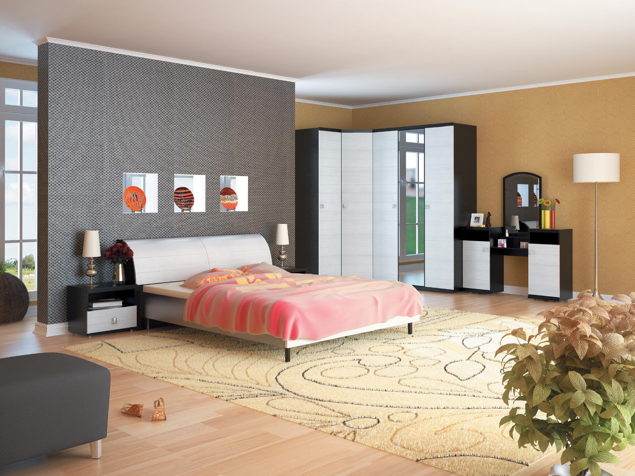 Гретта Онденс Спальня Набор 2Готовые комплекты<br>Спальня  Гретта Онденс  выполнена в ультрасовременном и функциональном дизайне.<br><br>Длина мм: 0<br>Высота мм: 0<br>Глубина мм: 0<br>Материал: ЛДСП<br>Основание для матраса: Нет