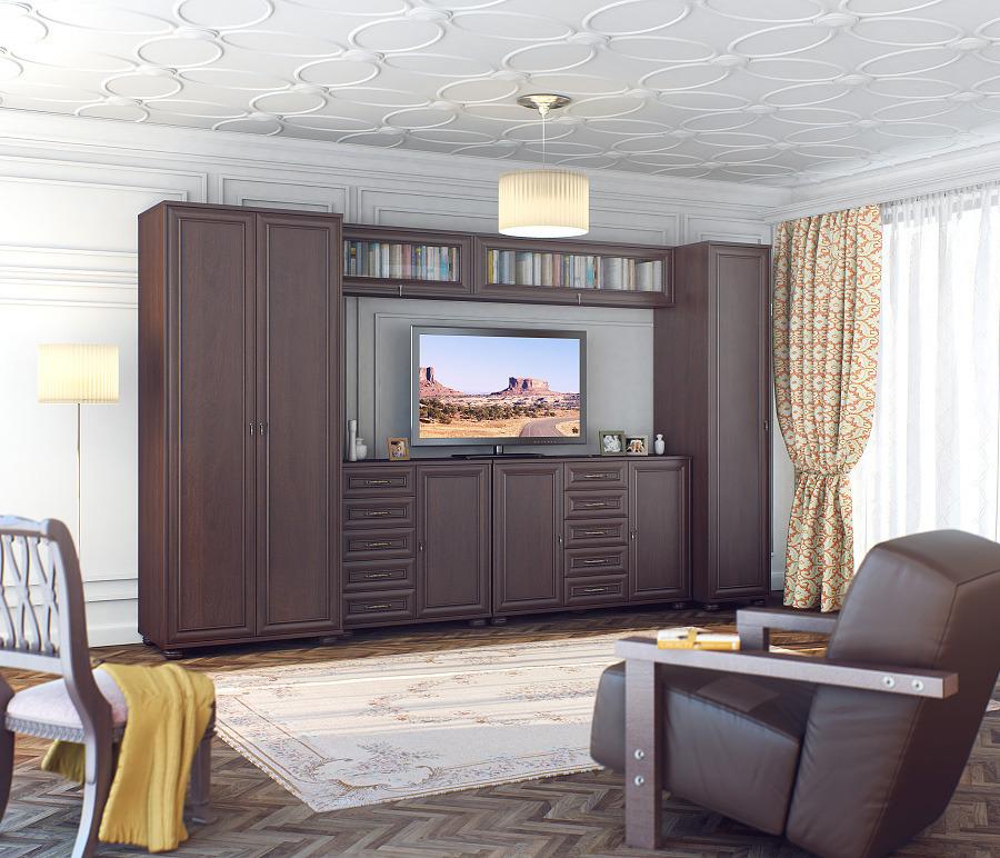 Верди 3560 МахагонСтенки для гостиной<br><br><br>Длина мм: 0<br>Высота мм: 0<br>Глубина мм: 0