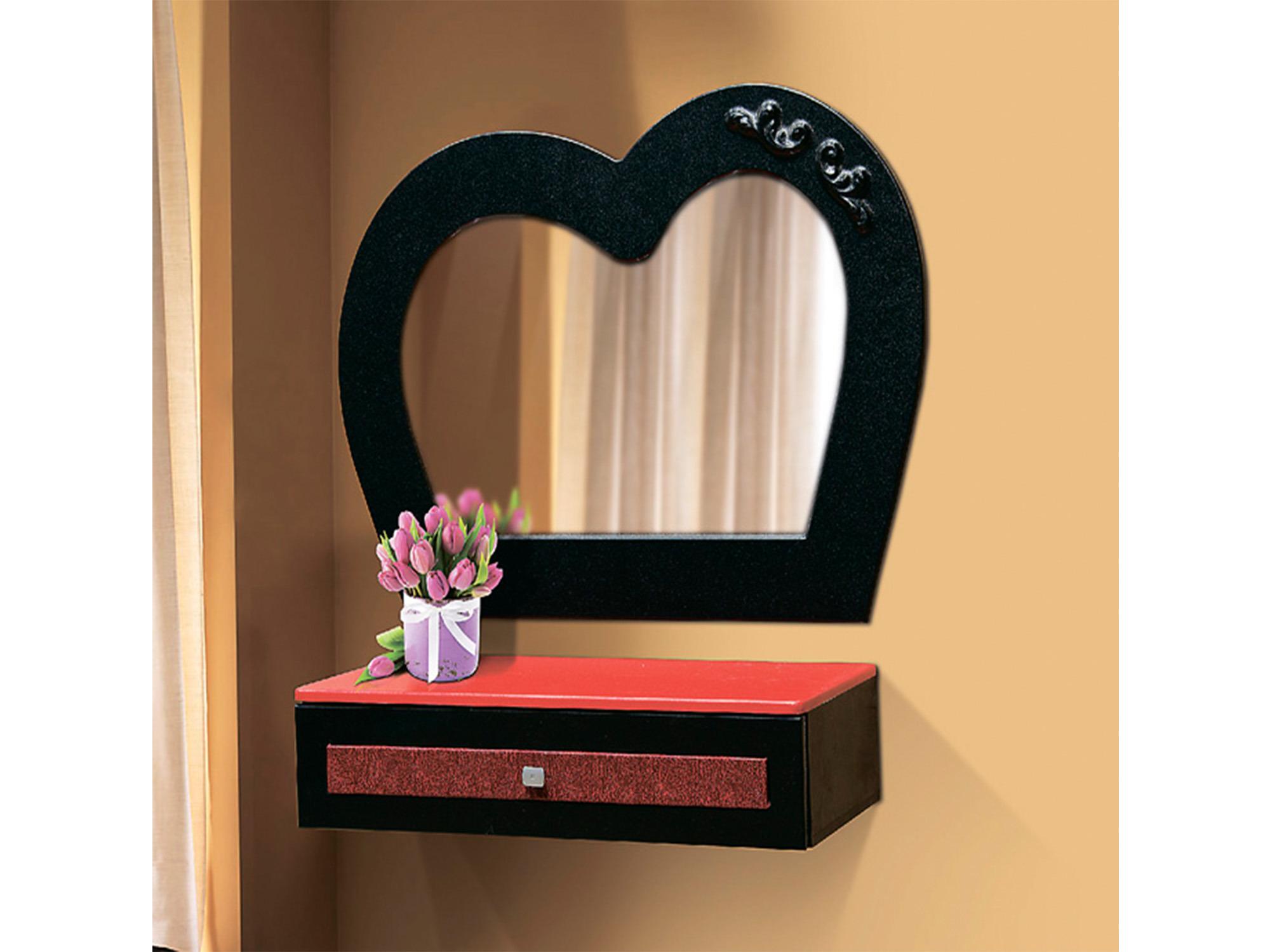 Стол туалетный подвесной Кокетка с зеркалом