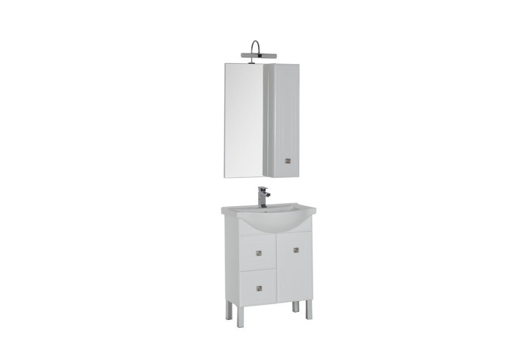 Комплект мебели Aquanet Стайл 65 белый (1 дверца 2 ящика)Комплекты мебели для ванной<br><br><br>Длина мм: 0<br>Высота мм: 0<br>Глубина мм: 0<br>Цвет: Белый