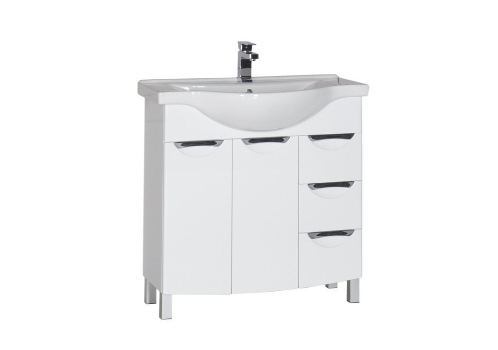 Тумба Aquanet Асти 85 белыйТумбы с раковиной для ванны<br><br><br>Длина мм: 0<br>Высота мм: 0<br>Глубина мм: 0<br>Цвет: Белый Глянец