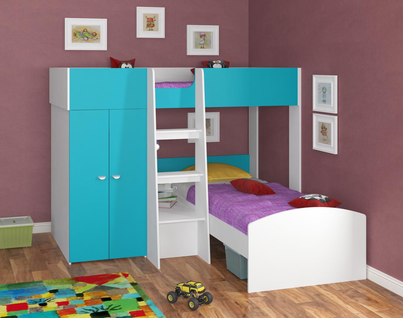 Набор мебели Golden Kids 4 кбКровати двухъярусные<br><br><br>Длина мм: 2058<br>Высота мм: 1555<br>Глубина мм: 2058