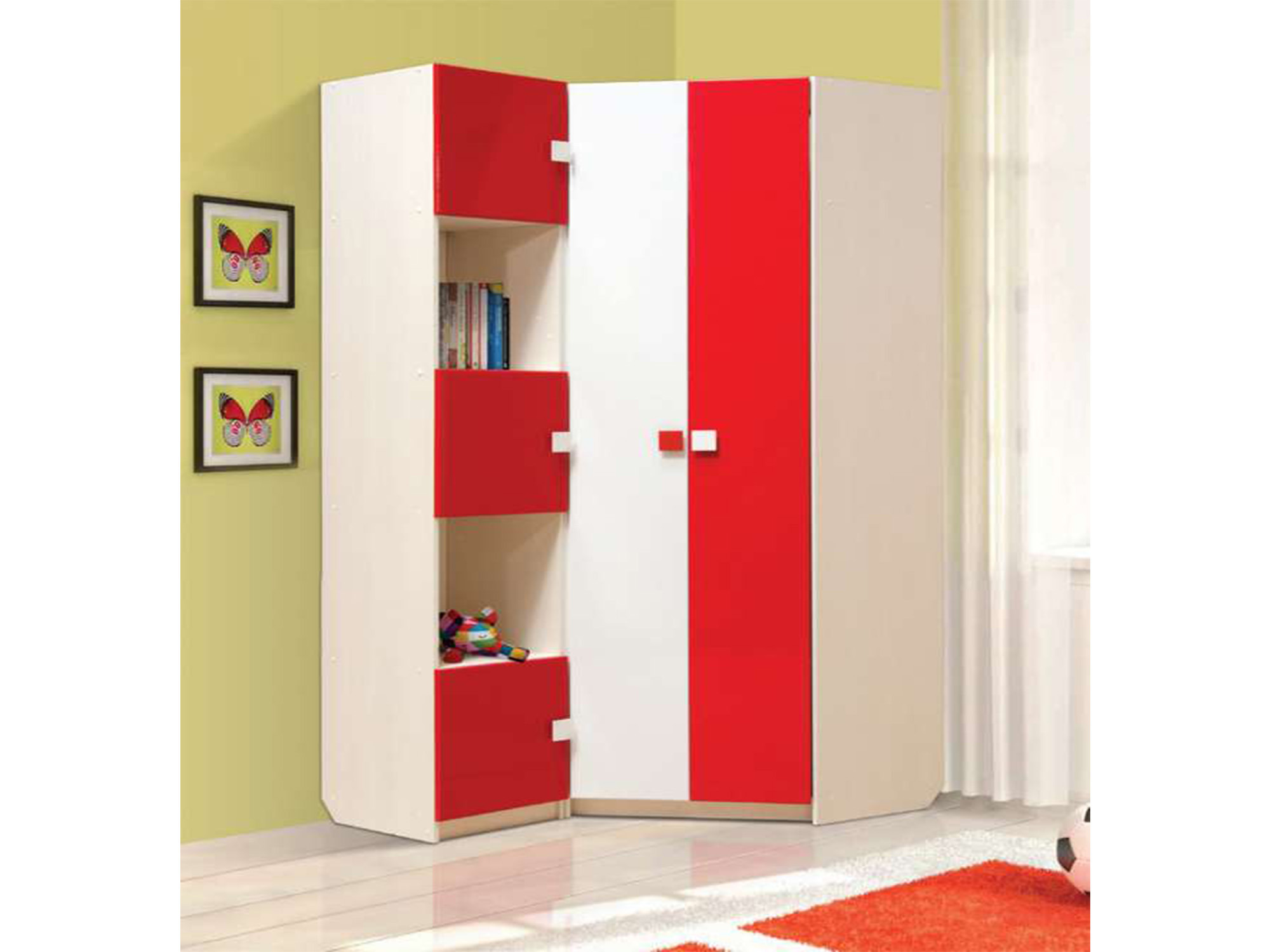 Шкаф угловой Кокетка-2Угловые шкафы<br><br><br>Длина мм: 0<br>Высота мм: 2200<br>Глубина мм: 450