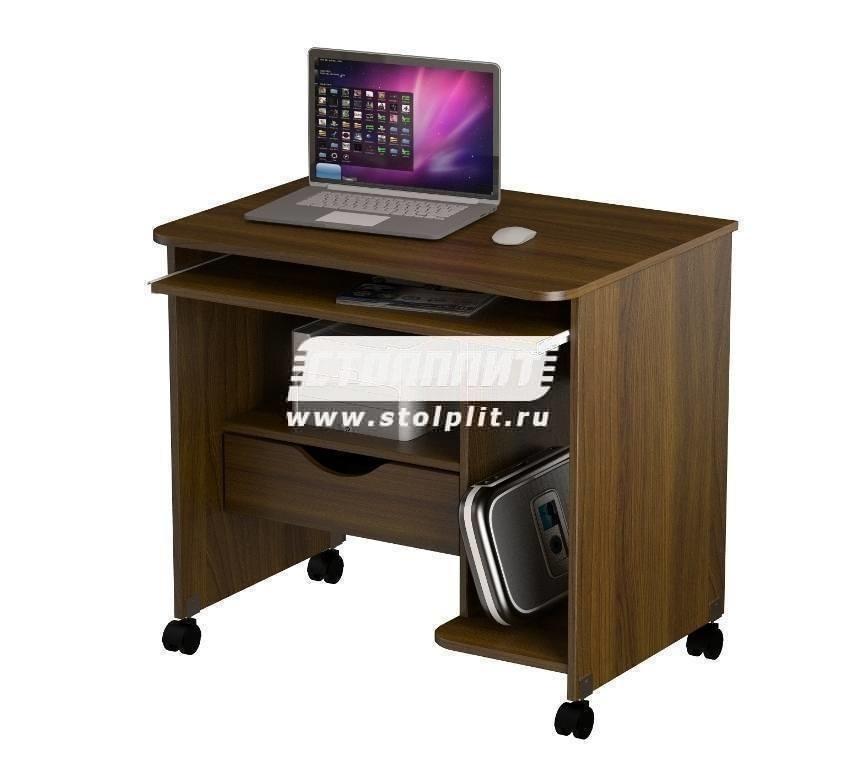 Стол компьютерный КС 2006м1Компьютерные столы<br><br><br>Длина мм: 800<br>Высота мм: 760<br>Глубина мм: 600<br>Цвет: Орех Валенсия