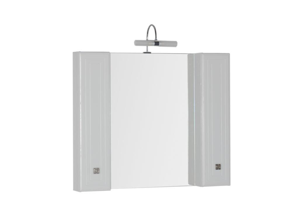 Зеркало Aquanet Стайл 105 белыйЗеркало- шкаф для ванной<br><br><br>Длина мм: 0<br>Высота мм: 0<br>Глубина мм: 0<br>Цвет: Белый Глянец