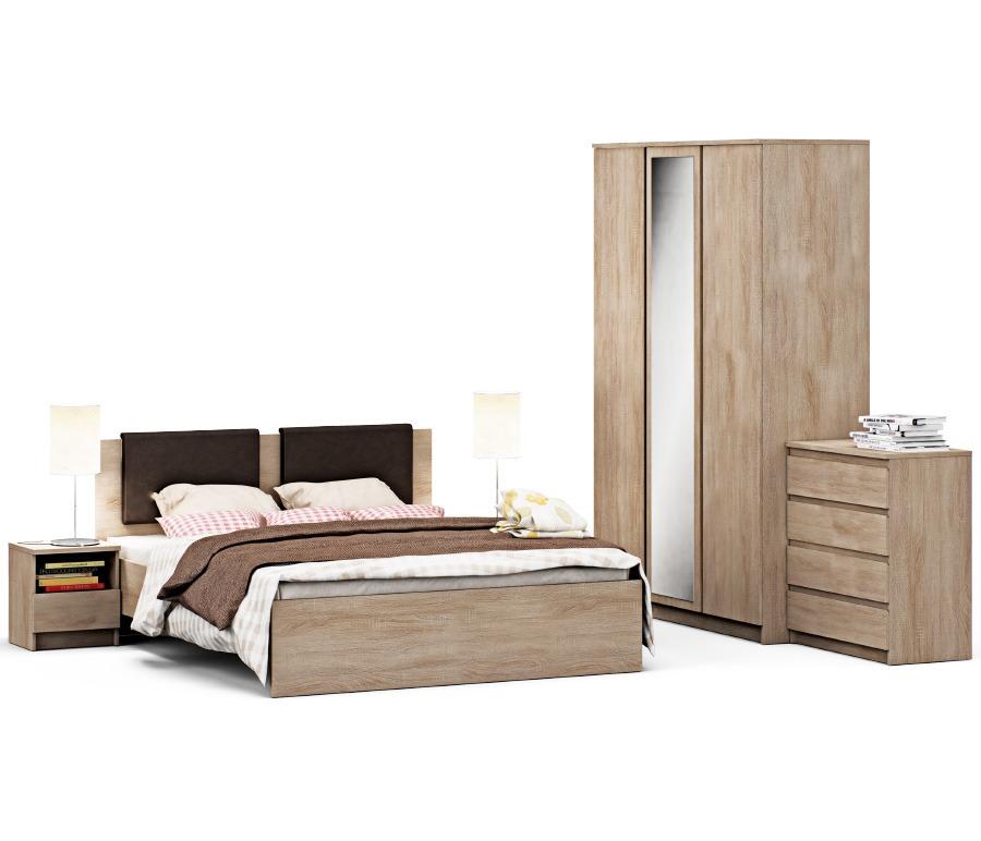 Веста набор для спальни Дуб Сонома с кроватью с подъемным механизмомСпальные гарнитуры<br><br><br>Длина мм: 0<br>Высота мм: 0<br>Глубина мм: 0