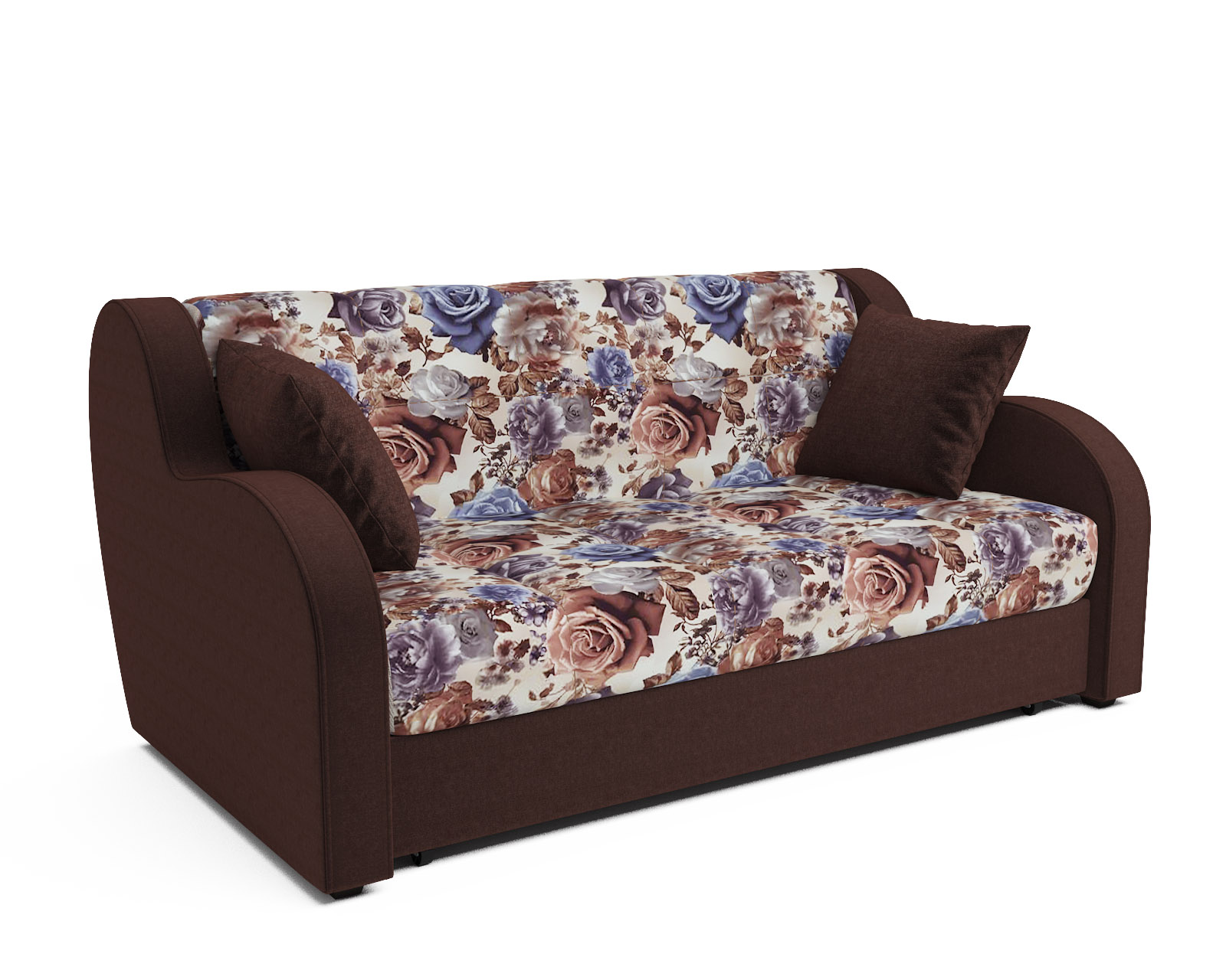 Прямой диван Аккордеон Боро (цветы)