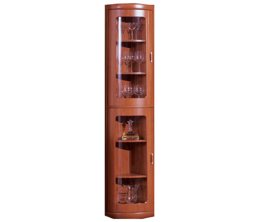 Сити СБ-216 Шкаф торцевой с витринойШкафы<br>Угловой однодверный шкаф с застекленными дверцами.<br><br>Длина мм: 345<br>Высота мм: 2218<br>Глубина мм: 345