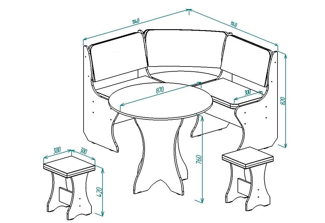 Кухонный уголок Надежда-4 от Столплит