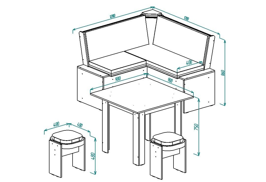 Кухонный уголок Надежда-6 от Столплит