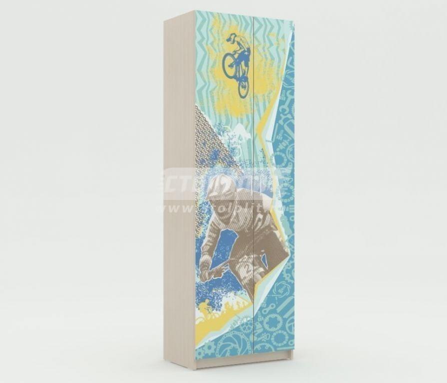 Шкаф платяной с одной штангой Юна 401Детская<br><br><br>Длина мм: 700<br>Высота мм: 2110<br>Глубина мм: 420