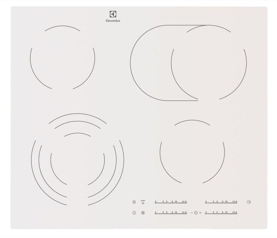 Варочная поверхность Electrolux EHF96547SW электр. бел.Мебель для кухни<br><br><br>Длина мм: 0<br>Высота мм: 0<br>Глубина мм: 0