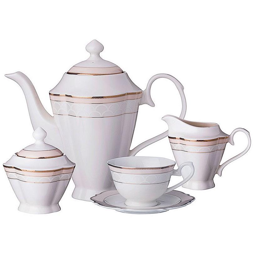Фото - Сервиз чайный 6/15пр Розовый сервиз чайный из фарфора звездная ночь 2 предмета 104 649 lefard