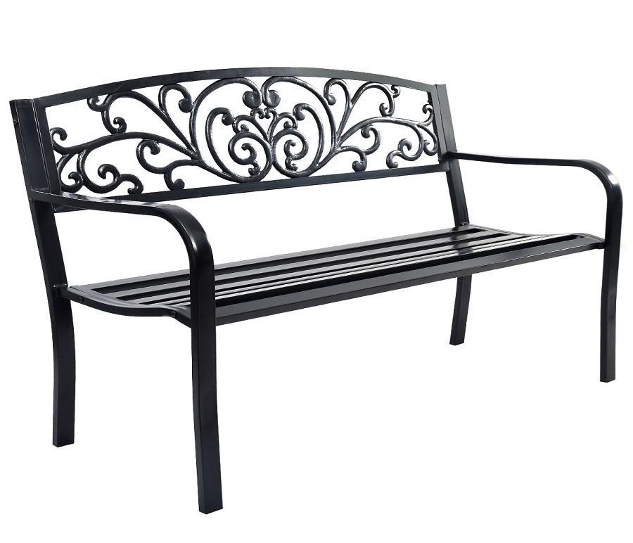 Скамейка OP2786Дачная мебель<br><br><br>Длина мм: 1280<br>Высота мм: 800<br>Глубина мм: 600<br>Цвет: Черный