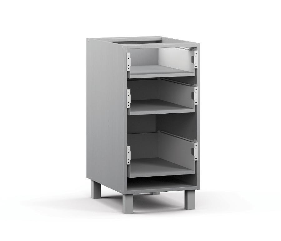Анна АСЯ-40 Шкаф-Стол с 3-мя ящикамиМебель для кухни<br>Корпус функционального шкафа для кухни.<br><br>Длина мм: 400<br>Высота мм: 820<br>Глубина мм: 563