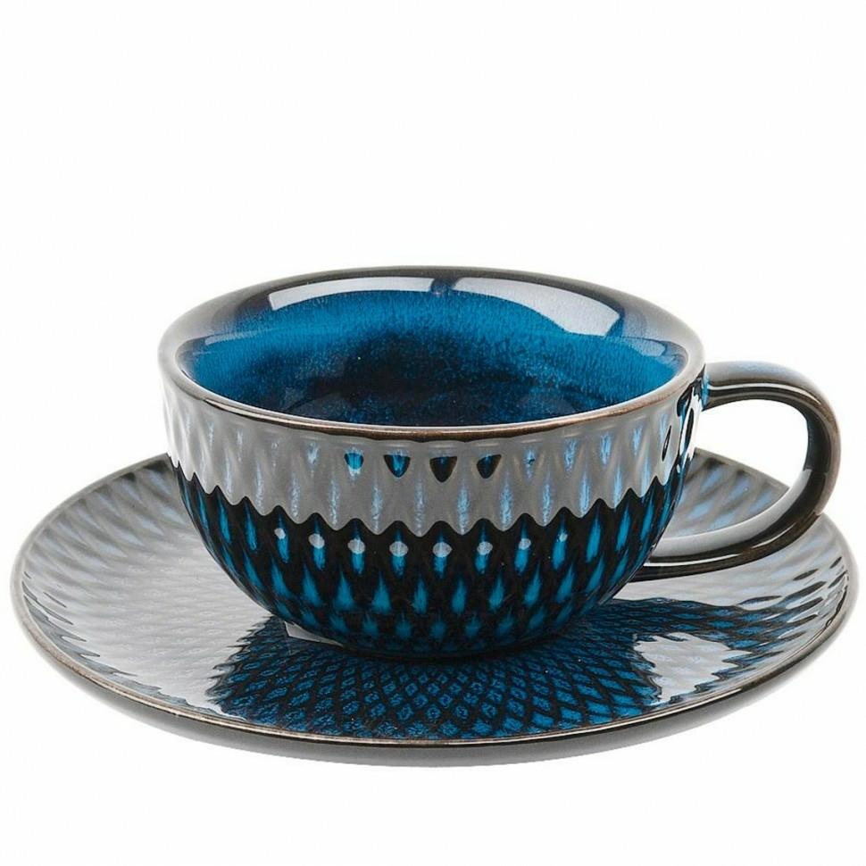 Фото - Пара чайная керамическая 225 мл Бриз Nouvelle Home чайная пара mercury 150 мл керамика