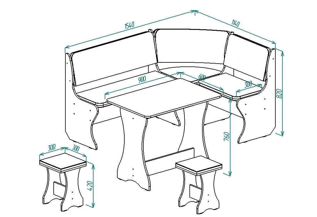 Кухонный уголок Надежда-3 от Столплит