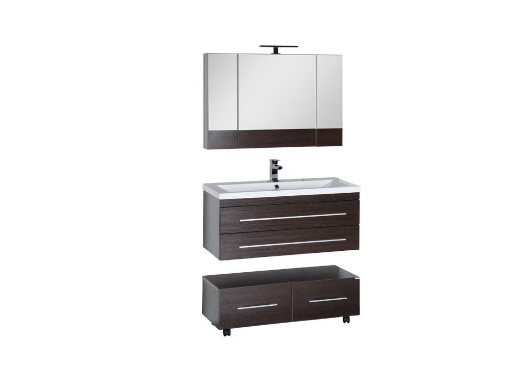 Комплект мебели Aquanet Нота 100 (камерино)Комплекты мебели для ванной<br><br><br>Длина мм: 0<br>Высота мм: 0<br>Глубина мм: 0<br>Цвет: Венге
