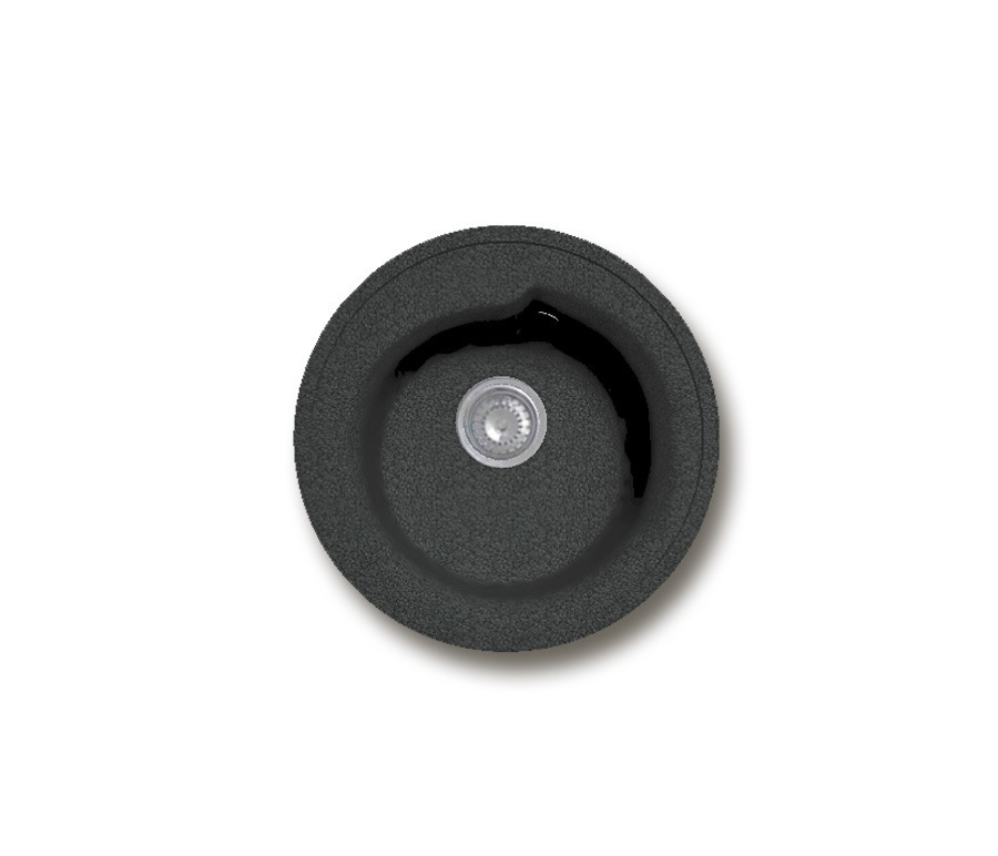 GRANFEST Мойка GF-R450 (черный)Мойки, сушки, смесители<br><br><br>Длина мм: 450<br>Высота мм: 450<br>Глубина мм: 185