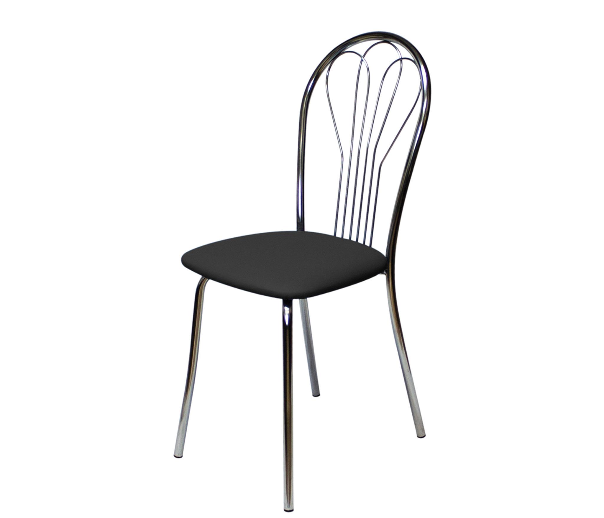 Стул Версаль хром/черныйОбеденные группы<br>Материал корпуса: Металл&#13;Материал сидения: Искусственная кожа&#13;]]&gt;<br><br>Длина мм: 360<br>Высота мм: 865<br>Глубина мм: 510