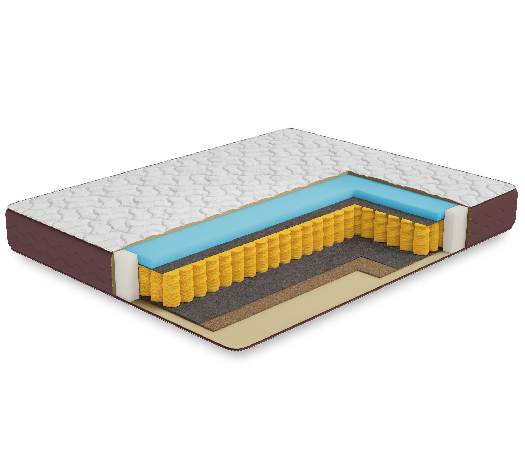 Матрас Премиум-Афина 1600*2000Мебель для спальни<br>Данный матрас имеет наполнители, которые по своему классу относятся к среднему и премиальному ценовому сегменту, в соот-ии с этим наполнением был подобран новый чехол, без изменения внутреннего наполнения матраса.Состав:4 см мемориТермоволокноБлок независимых пружин 500 шт/м2Термоволокно1 см латексированный кокосовый листЧехол двойной жаккард стеганный на 15 мм пеныВысота 22 смНагрузка 130 кгЖесткость 1 –й стороны -2Жесткость 2-й стороны -3