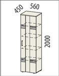 Шкаф-витрина Мокко-5 113147_qp от Столплит