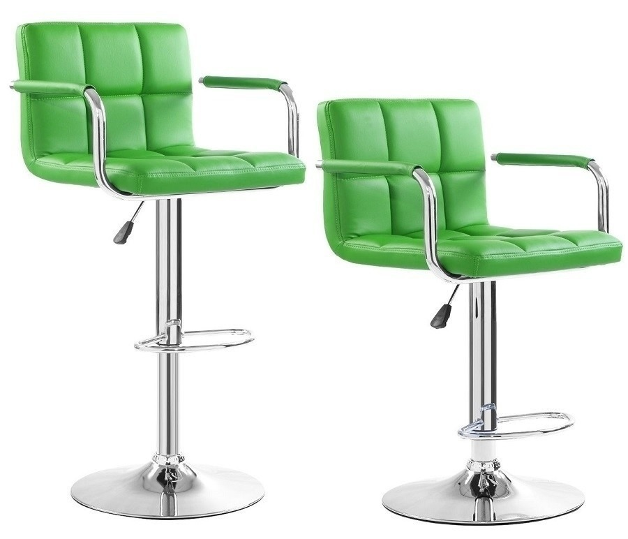 Барный стул (2шт.) HW50133Барные стулья<br><br><br>Длина мм: 420<br>Высота мм: 1180<br>Глубина мм: 430<br>Цвет: Зеленый