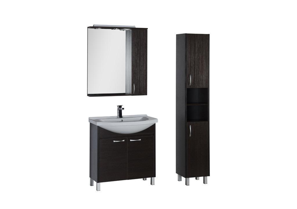 Комплект мебели Aquanet Донна 80Комплекты мебели для ванной<br><br><br>Длина мм: 0<br>Высота мм: 0<br>Глубина мм: 0<br>Цвет: Венге