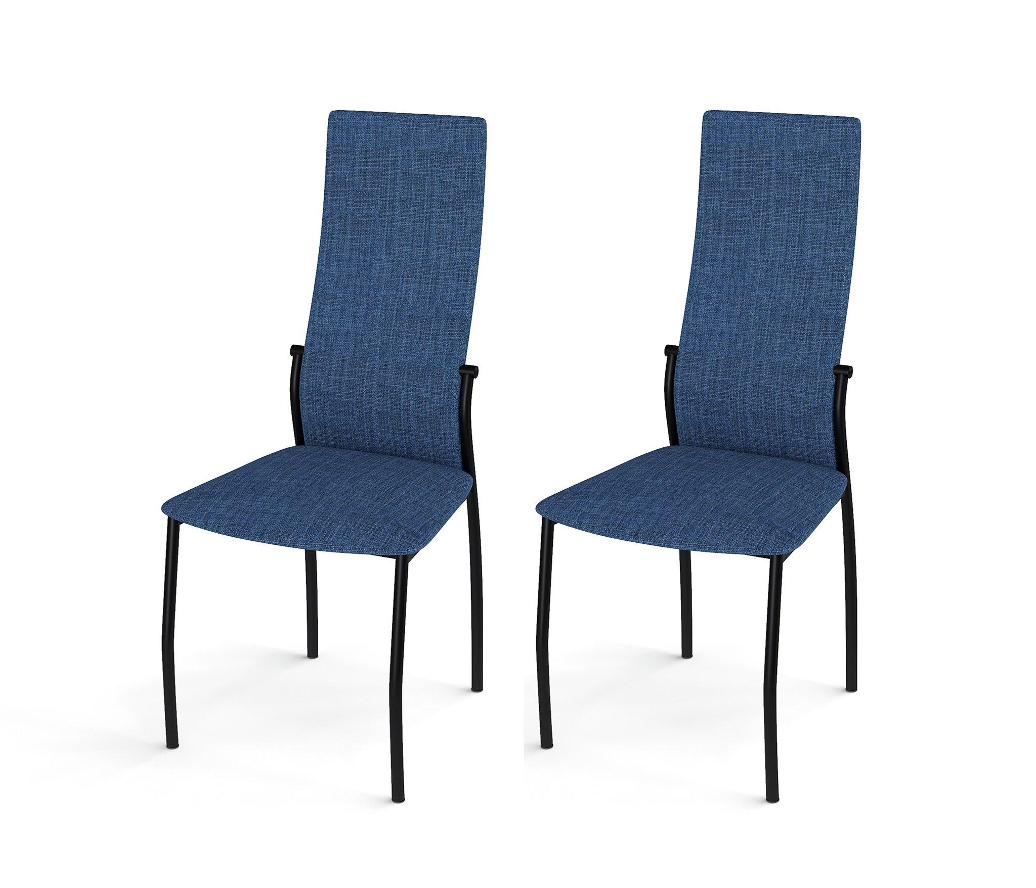 Стул Галс черный каркас, ткань №14 синий (в комплекте 2 шт.) недорого