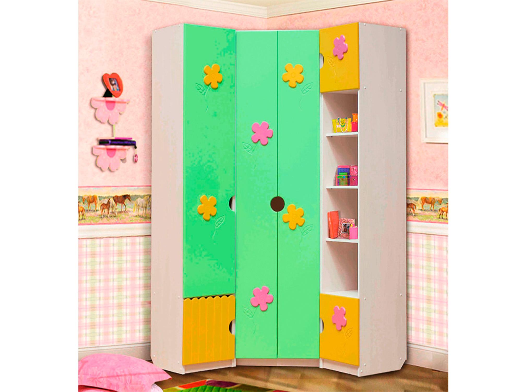 Шкаф угловой Цветочек-1Угловые шкафы<br><br><br>Длина мм: 0<br>Высота мм: 2201<br>Глубина мм: 450
