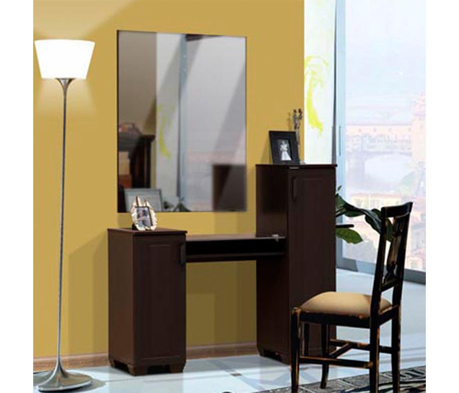Стол туалетный с зеркалом ГаргонаТуалетные столики<br><br><br>Длина мм: 1208<br>Высота мм: 1126<br>Глубина мм: 440