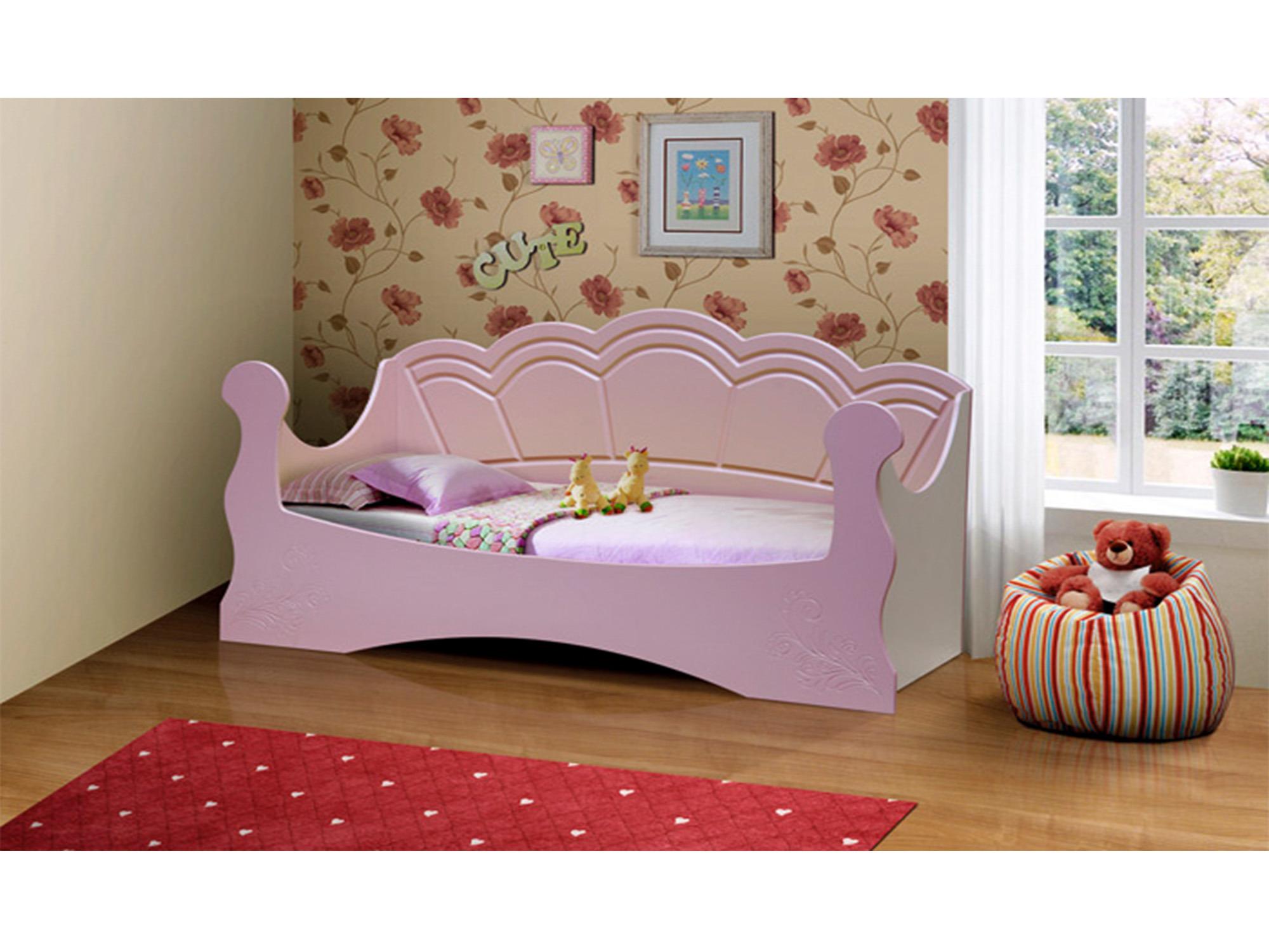 Кровать ФеяДетские кровати<br><br><br>Длина мм: 1900<br>Высота мм: 1000<br>Глубина мм: 840