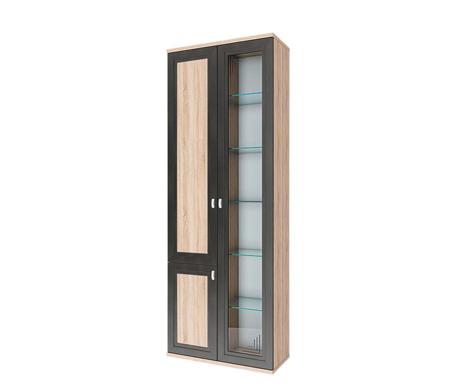 Аурелия СТЛ.156.02 Шкаф 3-х дверый со стекломШкафы<br><br><br>Длина мм: 800<br>Высота мм: 2205<br>Глубина мм: 360