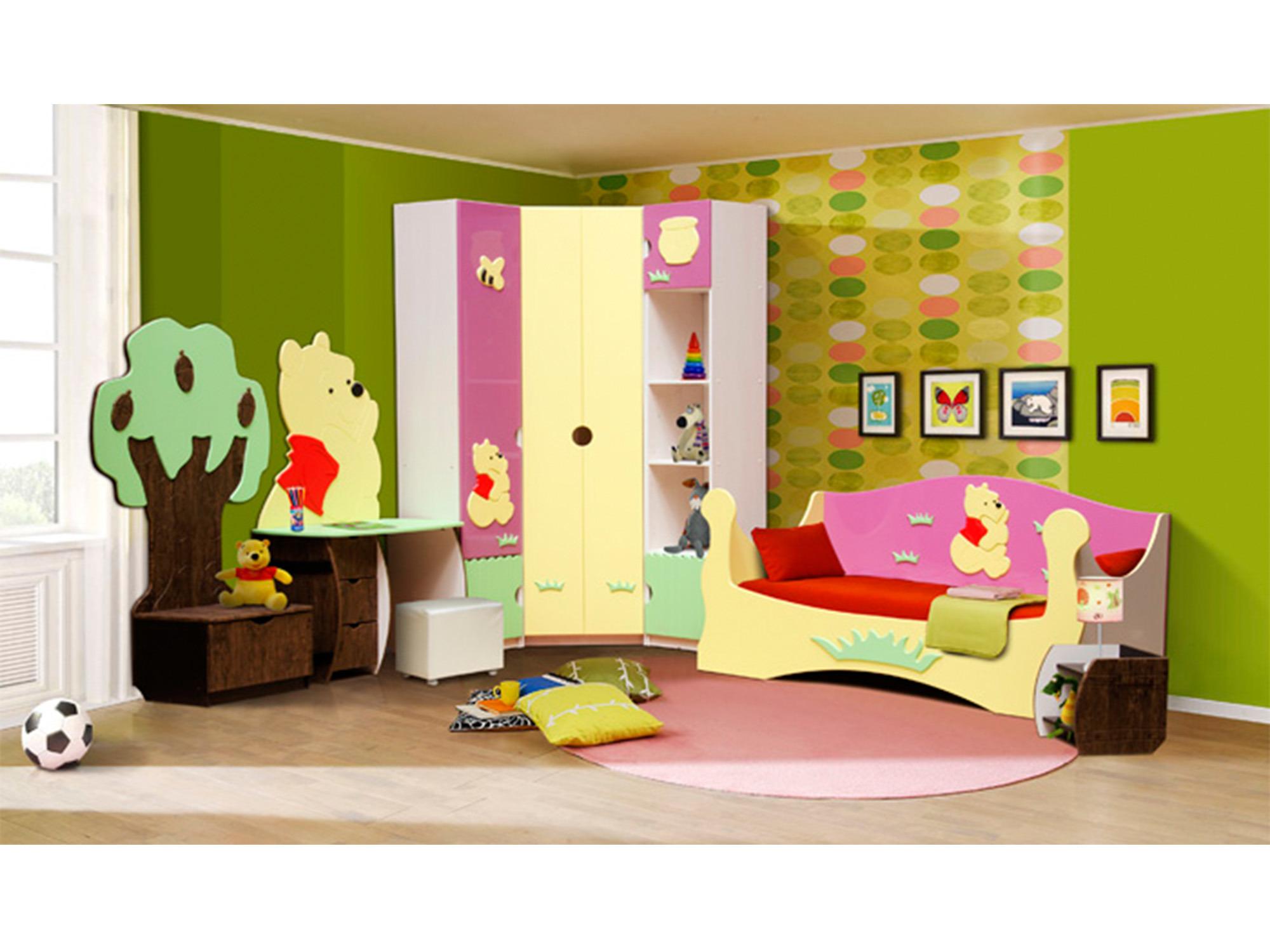 Спальный гарнитур Медвежонок 1Детские комнаты<br><br><br>Длина мм: 4150<br>Высота мм: 2200<br>Глубина мм: 580