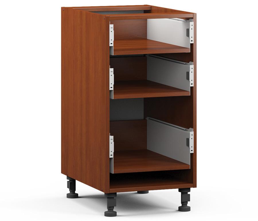 Регина РСЯ-40 Шкаф-Стол с 3-мя ящикамиМебель для кухни<br>Корпус для практичного шкафа с тремя выдвижными ящиками.<br><br>Длина мм: 400<br>Высота мм: 820<br>Глубина мм: 563