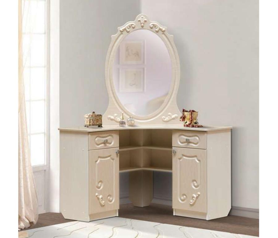 Стол туалетный угловой  ДжульеттаТуалетные столики<br><br><br>Длина мм: 1000<br>Высота мм: 1500<br>Глубина мм: 1000