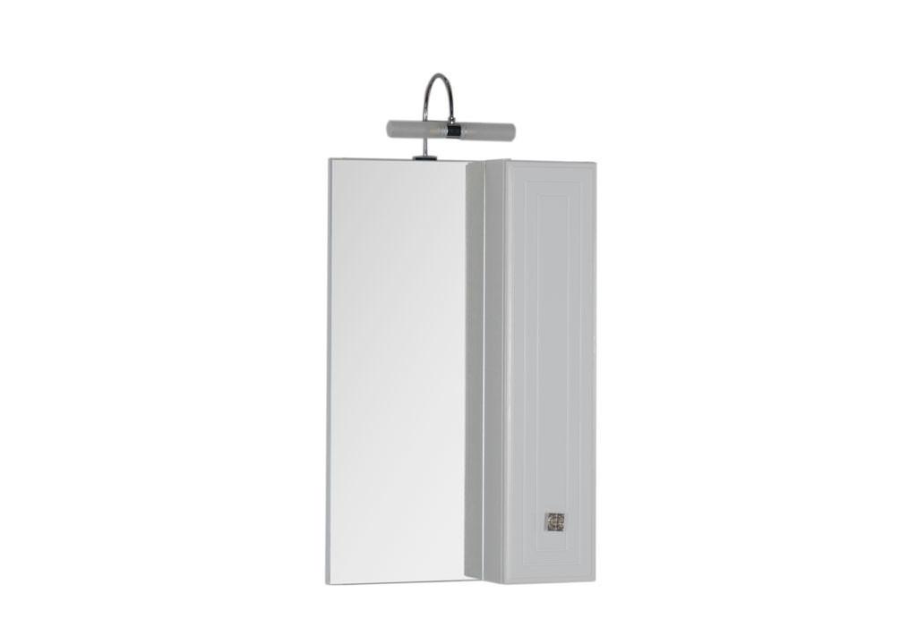 Зеркало Aquanet Стайл 55 белыйЗеркало- шкаф для ванной<br><br><br>Длина мм: 0<br>Высота мм: 0<br>Глубина мм: 0<br>Цвет: Белый Глянец
