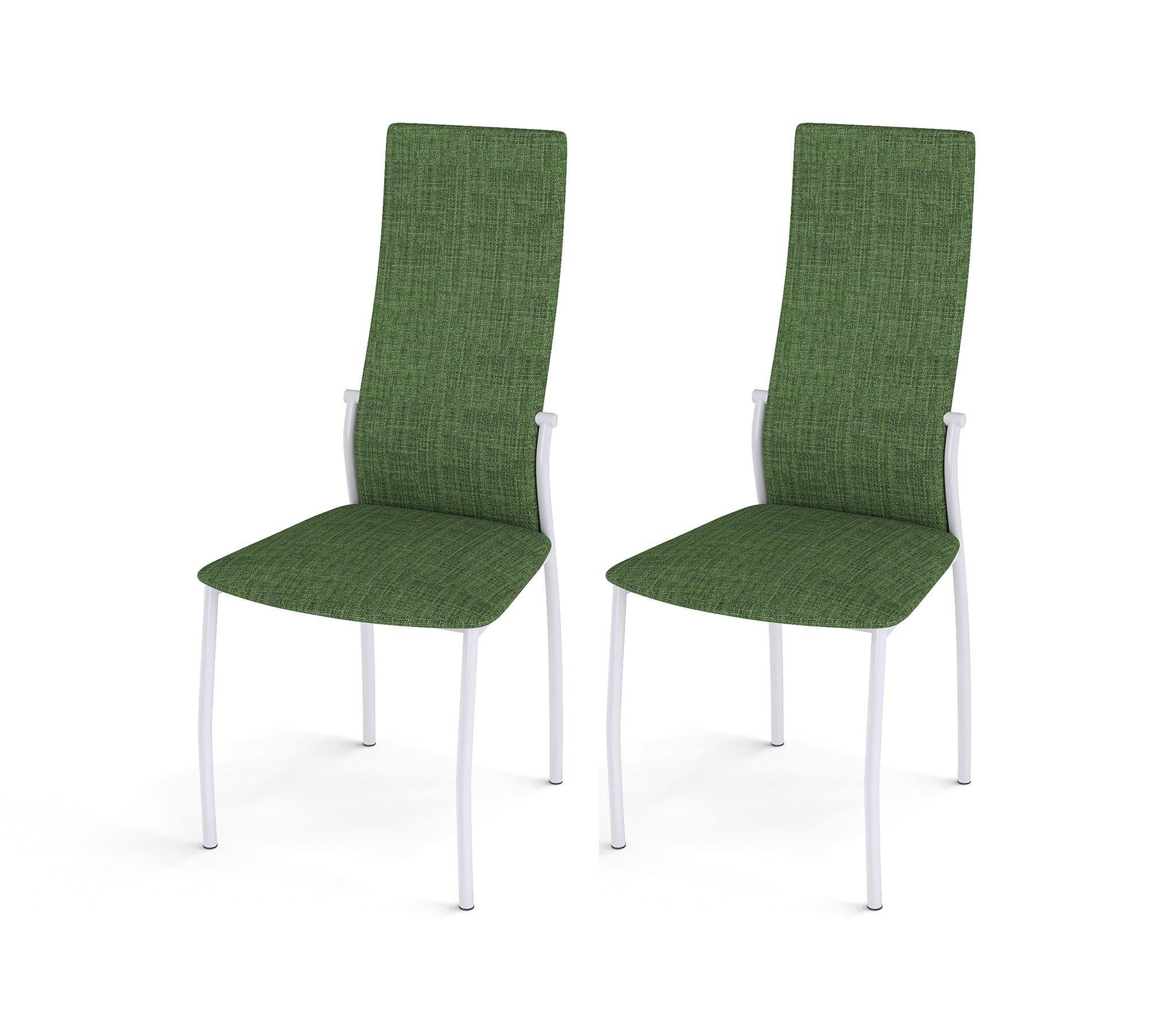Стул Галс белый каркас /ткань №16 зеленый (в комплекте 2 шт.) недорого
