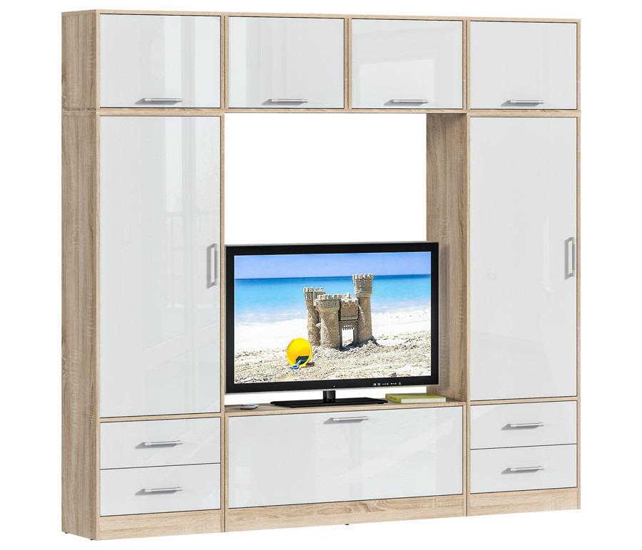 Агата L-2360 комплект 3Стенки для гостиной<br><br><br>Длина мм: 0<br>Высота мм: 0<br>Глубина мм: 0<br>Цвет: Дуб Сонома/Белый